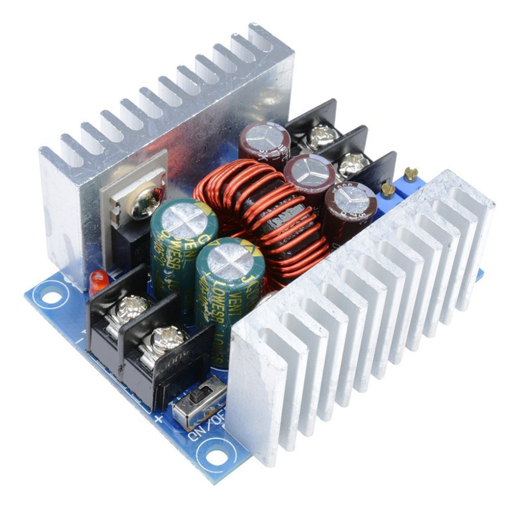 DC-DC High Power Low Ripple Step-down Module 6-40V To 1.2-35V 20A Adjustable CC CV Buck Converter Power Supply 1pcs professional step down power dc dc cc cv buck converter supply module 8 40v to 1 25 36v 8a adjustable