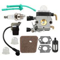 Carburetor & Ignition Coil Kit for Stihl FS55 FS55R KM55 FS45 FS46 FS38 Trimmer