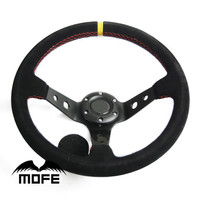 MOFE 14inch 350mm Deep Corn Drifting Steering Wheel / Suede Leather Steering wheels