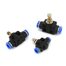 купить 1PC Throttle Valve SA 4/6/8/10/12mm Air Flow Speed Control Valve Tube Water Hose Pneumatic Push In Fittings дешево