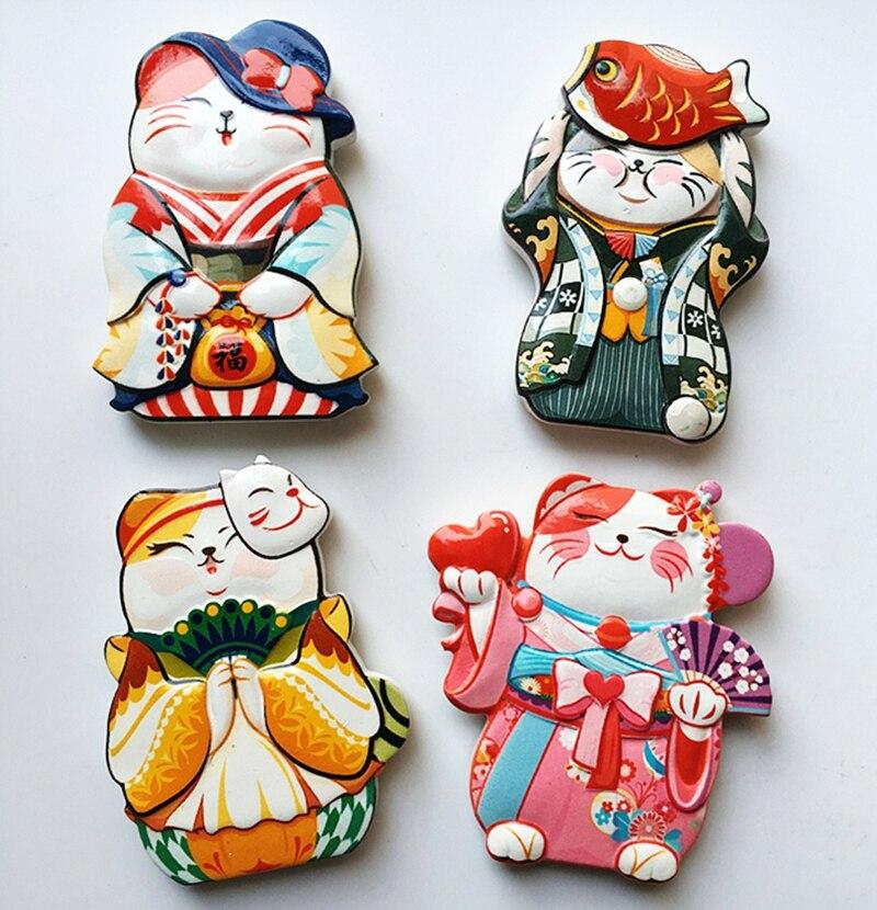 Heißer 2018 Neue Nette Cartoon Katze Kühlschrankmagnet Aufkleber Kühlschrank Geschenk Spielzeug Dekoration Ornamente Kühlschrankmagnete