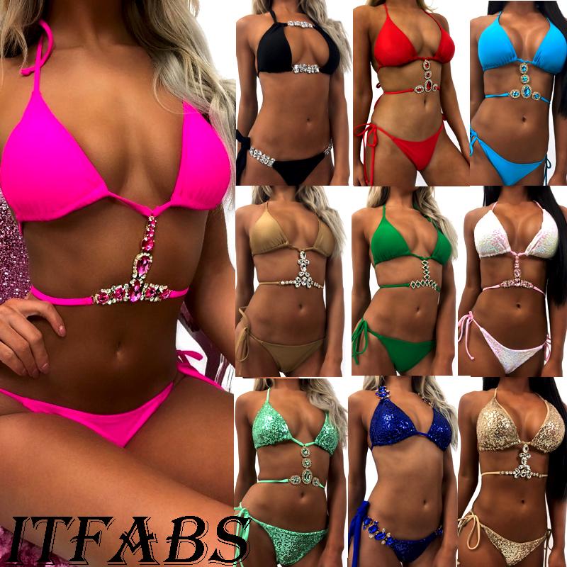 HTB1uNi.zGmWBuNjy1Xaq6xCbXXav - bikini Sport swimwear women 2018 Sequin Rhinestone Crystal Diamond thong bikini set Brazilian summer swimsuit bathing suit