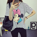 2016 fashion cartoon short sleeve T-shirt and women T-shirt size letters leisure comfortable in summer