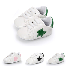Hot Sale! New Baby Shoes Moccasins Cute Little Star Leather Newborn Girl Boy First Walkers Soft Infants Crib Shoes.CX74C