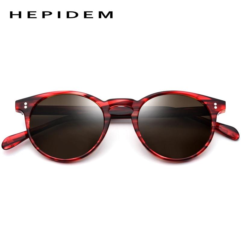 Image 3 - Acetate Polarized Sunglasses Women 2019 New Vintage Retro Circle Round Sun Glasses for Men Women's Transparent Sunglass 9113-in Women's Sunglasses from Apparel Accessories on AliExpress