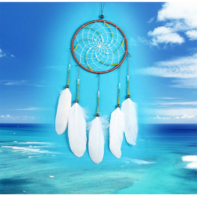 Indian Style Big Tree Of Life Dream Catcher Wind Chimes Campanula Feather  Pendant Vintage Home Decor Dream Catcher Gift