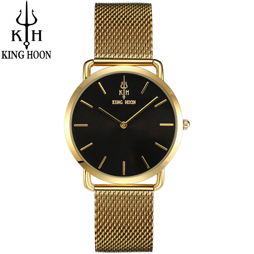 KING HOON Brand Luxury Gold Women Watches Steel Quartz Ladies Rose Bracelet Watch Casual Clock Lovers Girl Simple Wrist watch brand luxury rose gold women watches ladies quartz analog clock girl casual watch women steel bracelet wrist watch montre femme