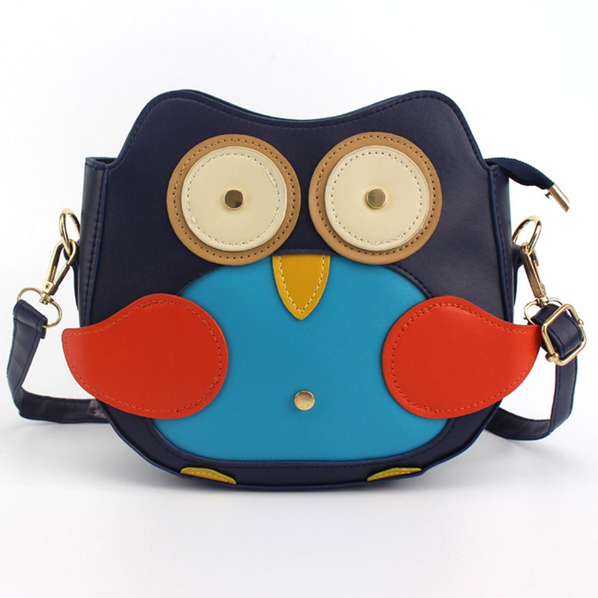 New Women Girls Cartoon Owl Crossbody Bag PU Leather Cute Mini Shoulder Bags Messenger Bag Popular