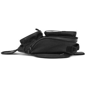 Image 5 - New Waterproof Motor Tank Bag Black Oil Fuel Tank Bag Magnetic Motorbike Saddle Bag Single Shoulder Bag Motorcycle Backpack
