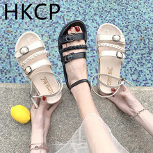 HKCP Fashion Spring/summer 2019 new student muffins and platform sandals for women Korean fashion all-purpose flats C264