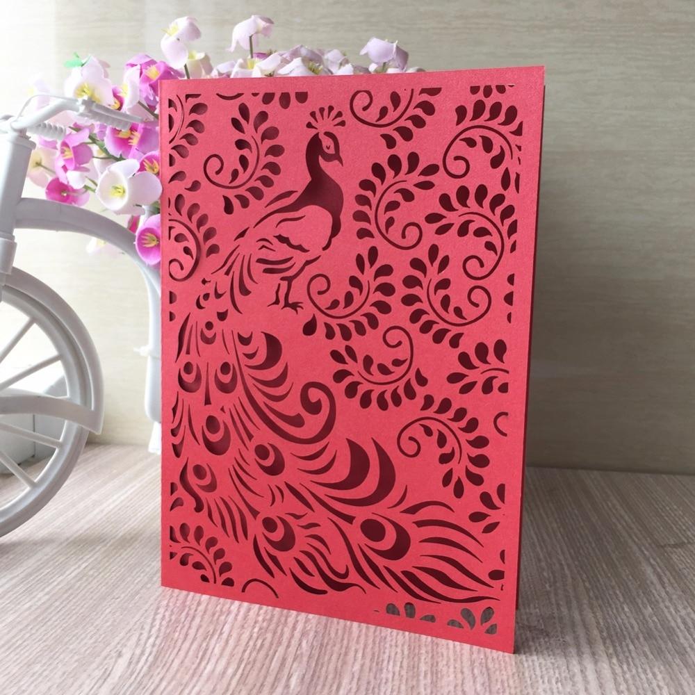 30pcs Laser Cut Pearl Phoenix Elegant Wedding Invitation Card Party ...