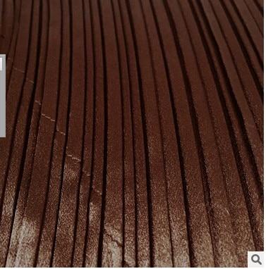 Puro La Satén En Envío borgoña Órgano marrón Del Libre Veces Plisado Manera Stock Color Negro Falda pUqRfgy