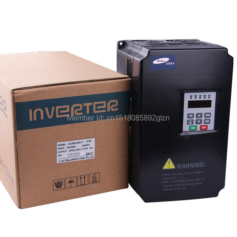 RITUO 3.7KW VFD variador de frecuencia de 220v 3.7kw VFD variador de - Piezas para maquinas de carpinteria - foto 4
