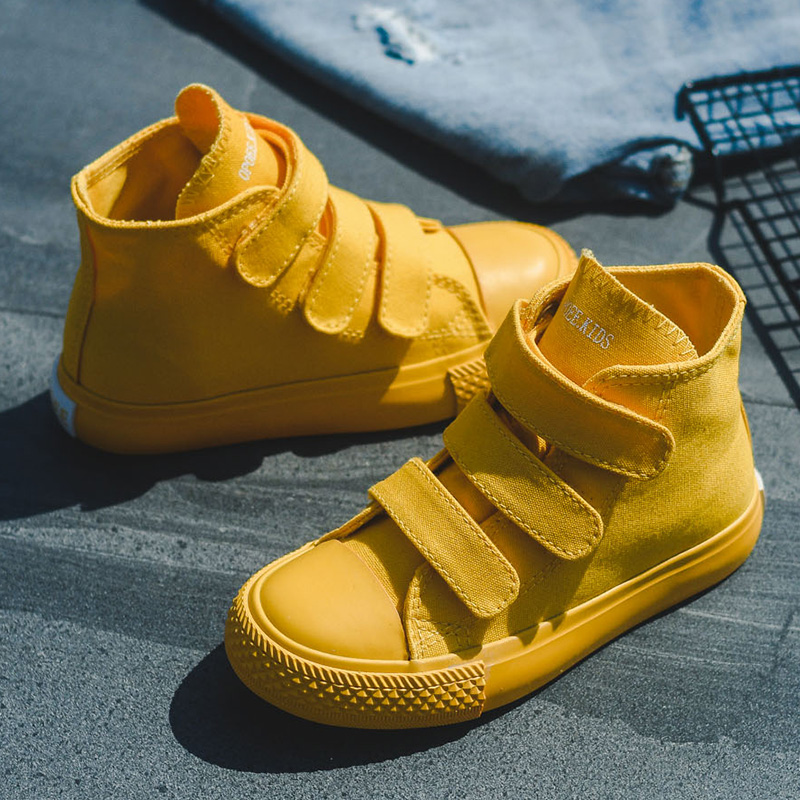 Image 1 - Kids Canvas Casual Shoes Children High Top Canvas Shoes Boy Girl Sneakers Kids Colorful Shoes Summer Breathable Chaussure Enfant-in Sneakers from Mother & Kids