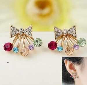 Модные серьги имитация, серьги уха ювелирные изделия оптом анти-ухо иглоукалывание женские модели