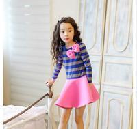 Boże narodzenie Ubrania Dla Dzieci Dziewczyny Ubierają Elsa Sukienka Z Długim Rękawem Zima Dress Dzieci Ubierać Ubrania Dla Dzieci HB1214 Navidad