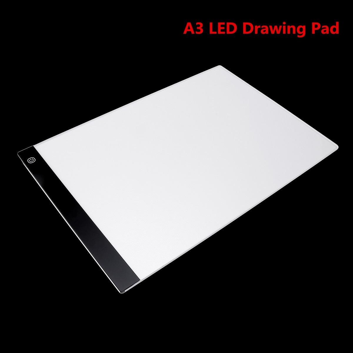 Numérique Dessin Tablet Pad A3 LED Dessin Pad Boîte Conseil Dessin Traçage Tracer Copie Conseil Table Pad Led Lumière Pad copie Conseil