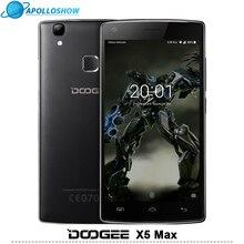 DOOGEE X5 Max мобильных телефонов отпечатков пальцев 4000 мАч 5.0 InchHD 1 ГБ + 8 ГБ смартфон MT6580 Quad Core Android 6.0 Dual SIM мобильный телефон