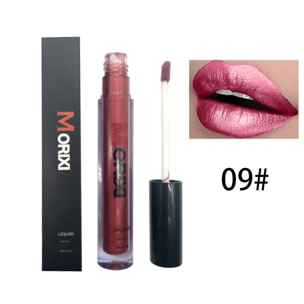 Morixi velvet matte lip gloss waterproof long lasting 12 colors rose red white lipstick liquid pigment metallic lip tint MOR015 in Lip Gloss from Beauty Health