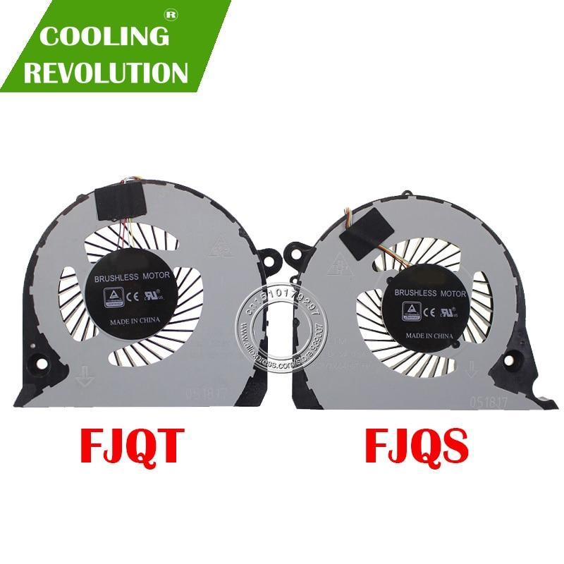 NEW ORIGINAL CPU GPU COOLING FAN FOR DELL Inspiron 15-7000 7577 P72F FJQS DFS2000054H0T FJQT DFS541105FC0T 2JJCP