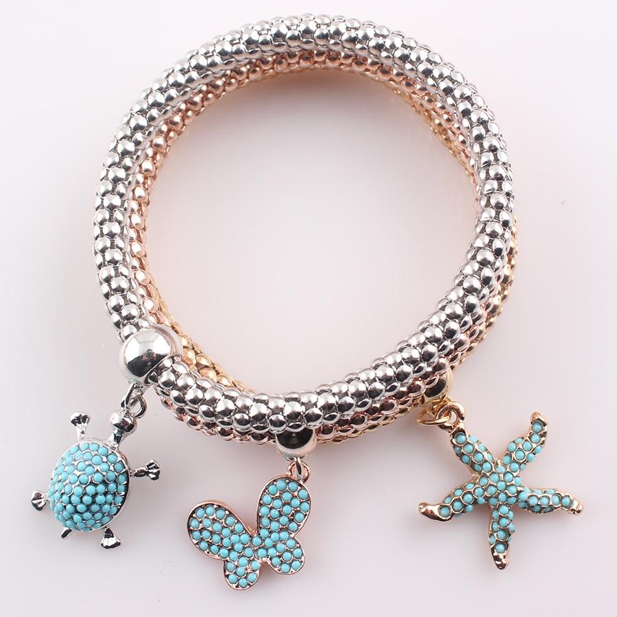 Little Turtle Starfish Charms For Bracelets For Women Gold Color Vintage  Bracelets&bangles Zinc Alloy Female Accessories