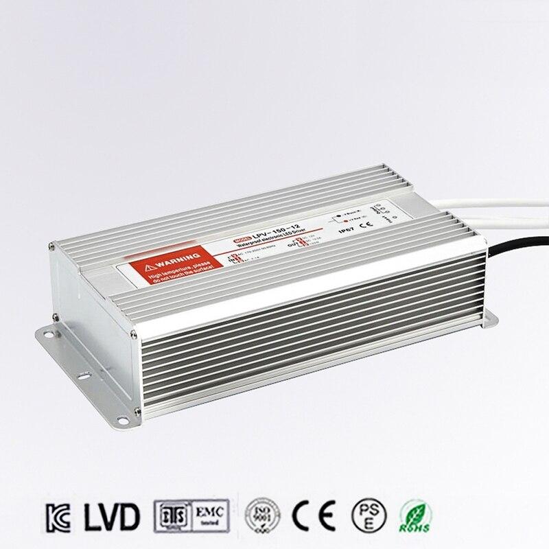 LED Driver Power Supply Lighting Transformer Waterproof IP67 Input AC170 250V DC 24V 150W Adapter for LED Strip LD504