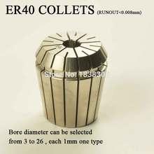 1pcs ER40 ER 40 (3mm-26mm) COLLETT High precision <0.008MM ER collet Work on milling tool holder for CNC machine to clamp mill