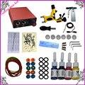 Profesional kit Completo tattoo set Ametralladora Del Tatuaje Kit de Alimentación + Agujas Tintas + + Consejos etc