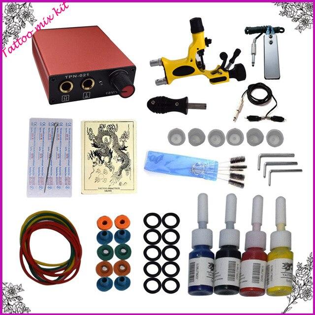 Professional Complete tattoo kit set  Tattoo Machine Gun Kit Supply+Needles+Inks+Tips etc