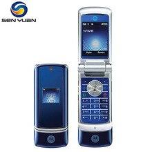Origianl Motorola K1 Cep Telefonu 2MP Kamera Bluetooth rusça klavye desteği Flip k1 cep telefonu