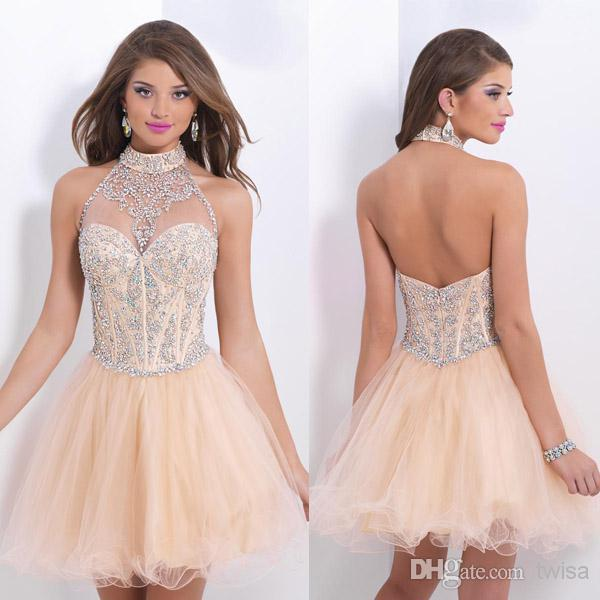 Aliexpress.com : Buy Wholesale High Collar Neckline Short Prom ...