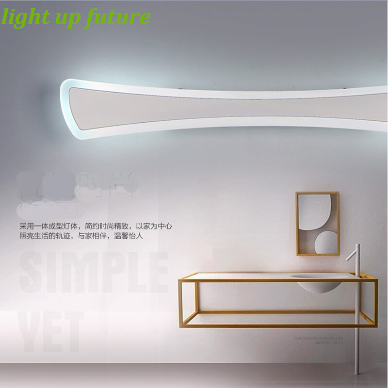 Modern Creative Acryl Aluminum Led Mirror Lamp for Bathroom Living Room Waterproof Anti-fog 40cm/12W Mirror Light 2130 modren acryl led mirror wall lamp waterproof and anti fog dressing room makeup mirror light fixture for bathroom toilet
