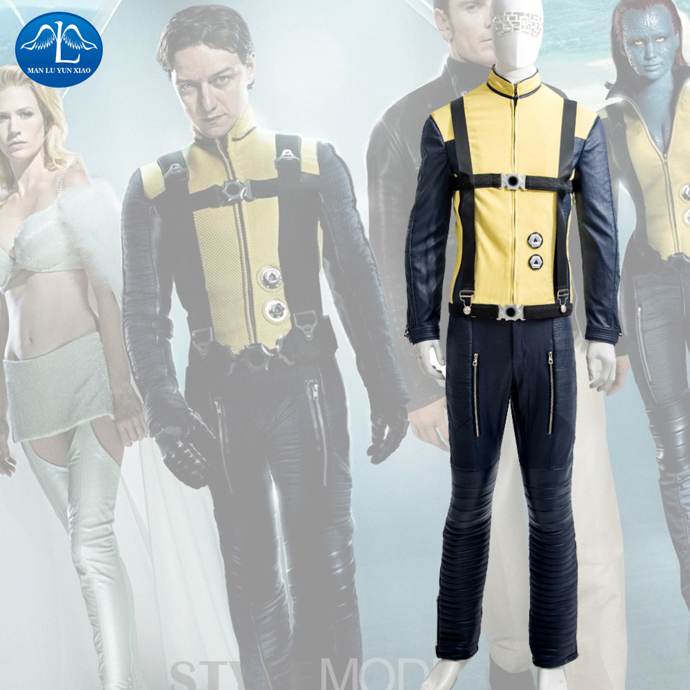 MANLUYUNXIAO Men's X-Men: First Class Charles Xavier Cosplay Costume Deluxe Outfit Halloween Cosplay Costume for Men