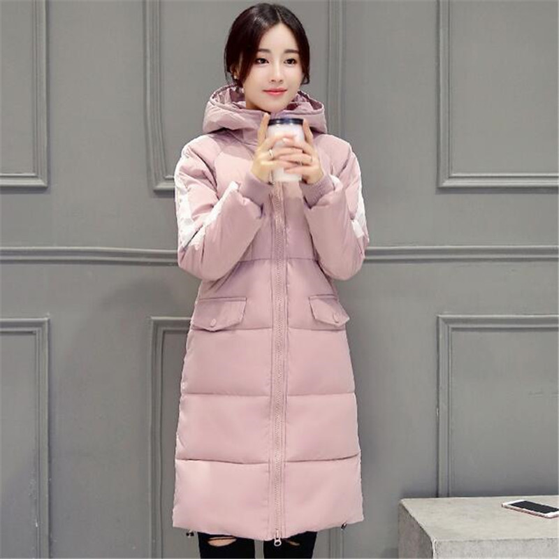 Fashion Women With Thick Cotton-padded Clothes Leisure Loose Big Yards Winter Coat Long Sleeve Hooded Straight Jacket Coat A0075 2015the new women s clothing han edition cotton padded clothes coat long big yards more loose tooling cotton padded jacket