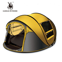 GAZELLE OUTDOORS Large Space3 4persons Automatic Speed Open Throwing Pop Up Windproof Camping Tent