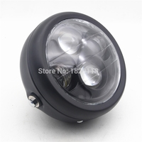 Black Motorcycle Bike Projector Daymaker LED 6 5 Head Light Lamp For Harley Bobber Chopper