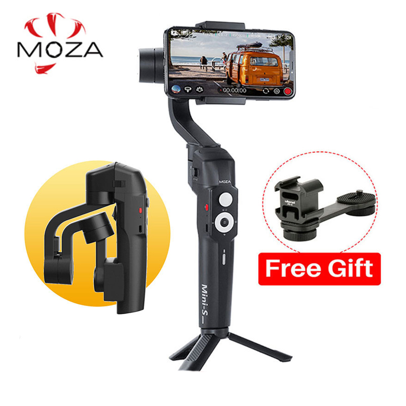 Moza Mini S 3 Axis Phone Gimbal Foldable Stabilizer for iPhone Oneplus 7pro GoPro DJI Osmo