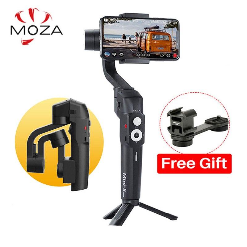 RU Estoque 3 Moza Mini-S-Eixo Cardan Estabilizador Dobrável para iPhone Oneplus Telefone GoPro DJI 7pro Osmo ação VS Mini-Mi Suave 4