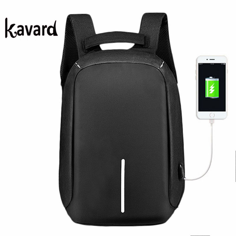 kavard Charge Anti Theft Backpack Men Travel Security Waterproof School Bag College Teenage Laptop Backpack sac a dos bagpack
