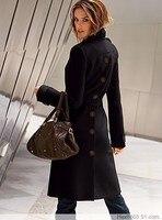 мода пальто женское с горчично-желтый передняя и задняя мода краткое кашемировые пальто многоцветный большой размер бесплатная доставка