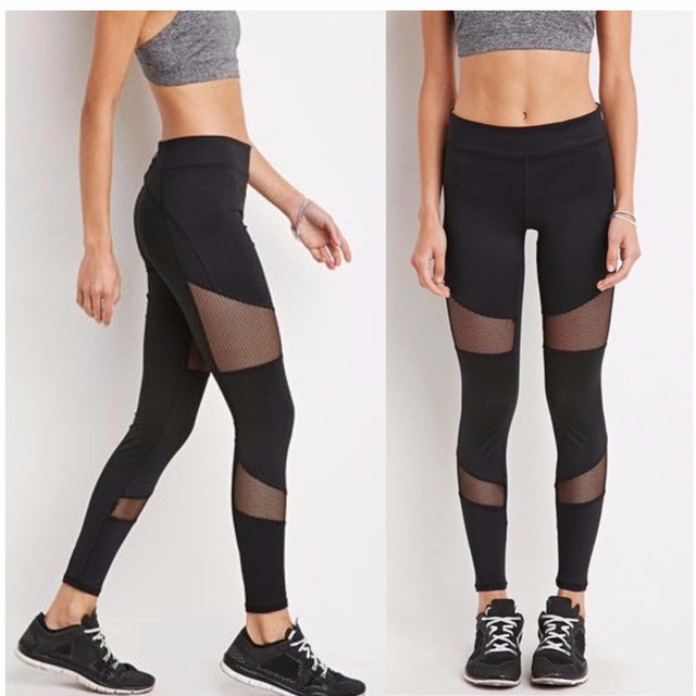 798f45c53ef663 USPS Sexy Gym Slim Women YOGA Running Pants Dance Cropped Leggings High  Waist Stretch Training Trousers Running Tights Pants