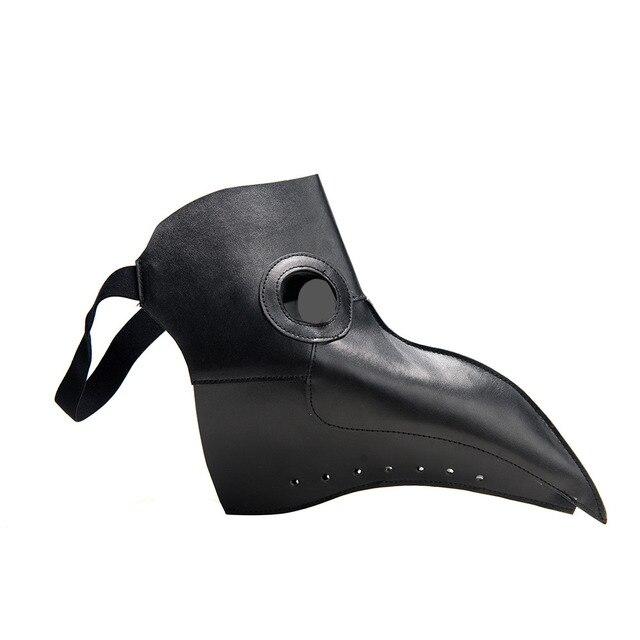 New Cosplay Steampunk plague doctor mask Bird Mask White/Black Latex Bird Beak Masks Long Nose Halloween Party Event Ball Cost 4