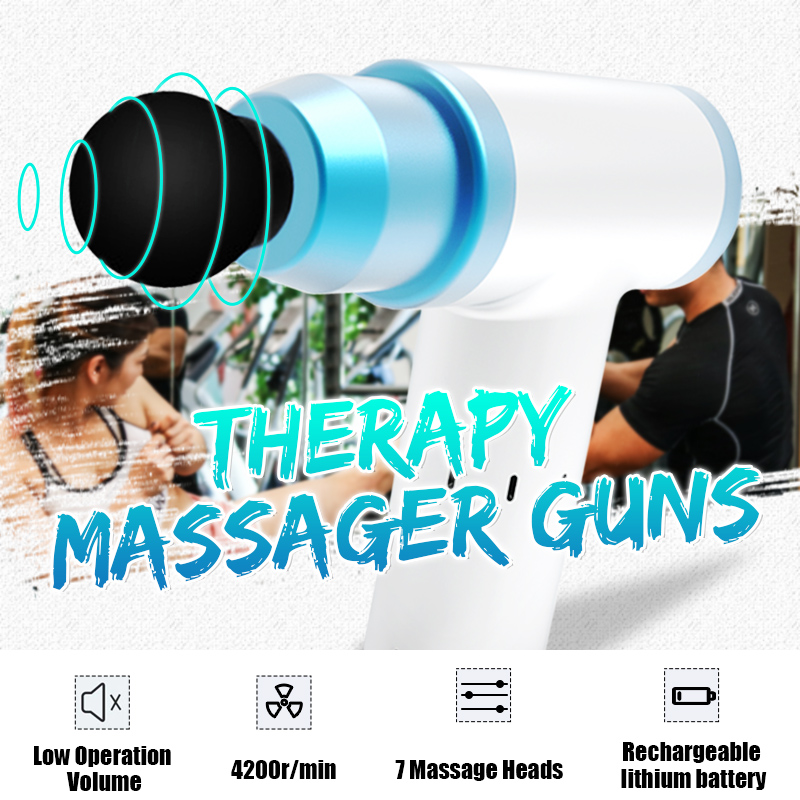 Percussion Massager Guns 1800-3400r/min 7 Pcs Head Professional Body Massager Electric Vibrating Relax Muscle Relaxation MassagePercussion Massager Guns 1800-3400r/min 7 Pcs Head Professional Body Massager Electric Vibrating Relax Muscle Relaxation Massage
