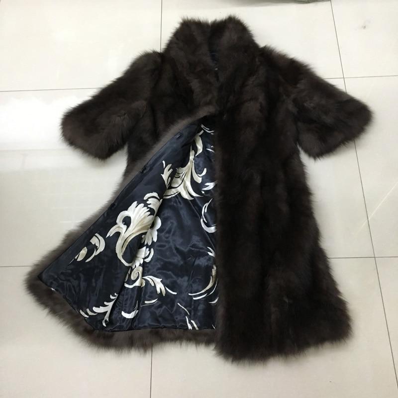 Réel Femmes Gilet Mink 100 Qualité Fourrure Véritable De Renard Colour Manteau Longue Haute Veste D'hiver a545qRUwnx
