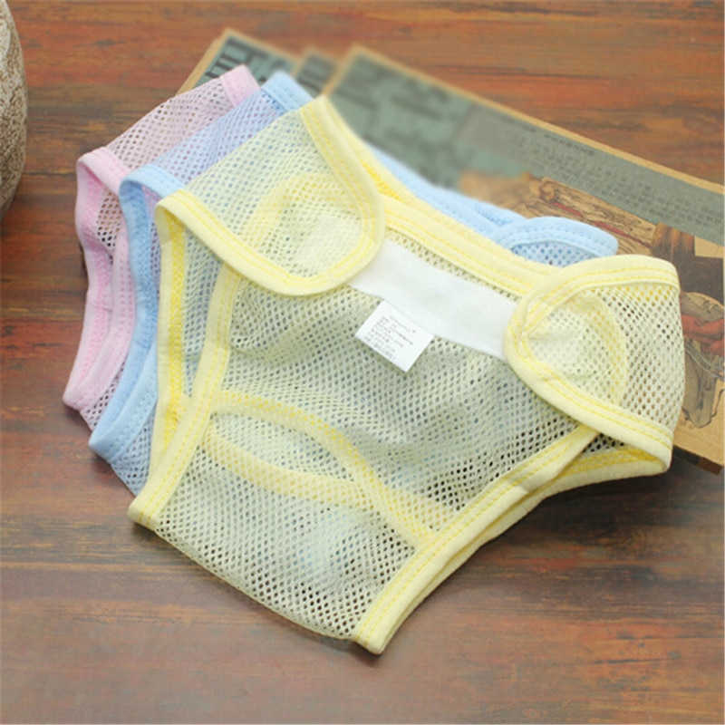 Newborn Pocket Nappy Breathable Diapers Summer Reusable Baby Diapers Cloth Nappies Washable Mesh Infant Cotton Liner Random