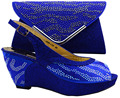 royal blue,New style African woman matching italian shoe and bag set for wedding/Party for Free shipping.!HZL1-5
