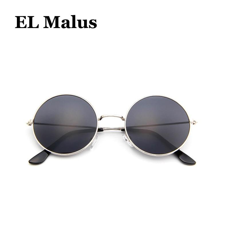 Hearty fashion Oval Matel Frame Sunglasses Children Kids Uv400 Pink White Gray Lens Mirror Vintage Sun Glasses Boys Girls Latest Technology el Malus