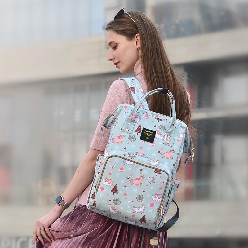 SUNVENO Mama Mama Materinstva Pelene Bag Velika torba za njegu Putni - Pelene i toaletni trening - Foto 2