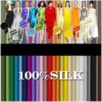 Silk Silk Material Silk Crepe Satin Formal Dress Multicolor