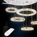 61 Вт 31 дюймов современная светодиодная хрустальная люстра освещение для гостиной потолочный светильник лампа умный пульт дистанционного з...
